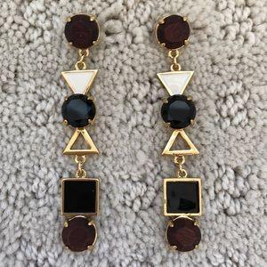 Kate Spade Brown Black and Gold Earrings